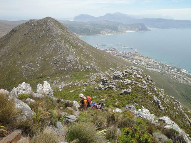Great views of Simons Town from Swartkop on day four.