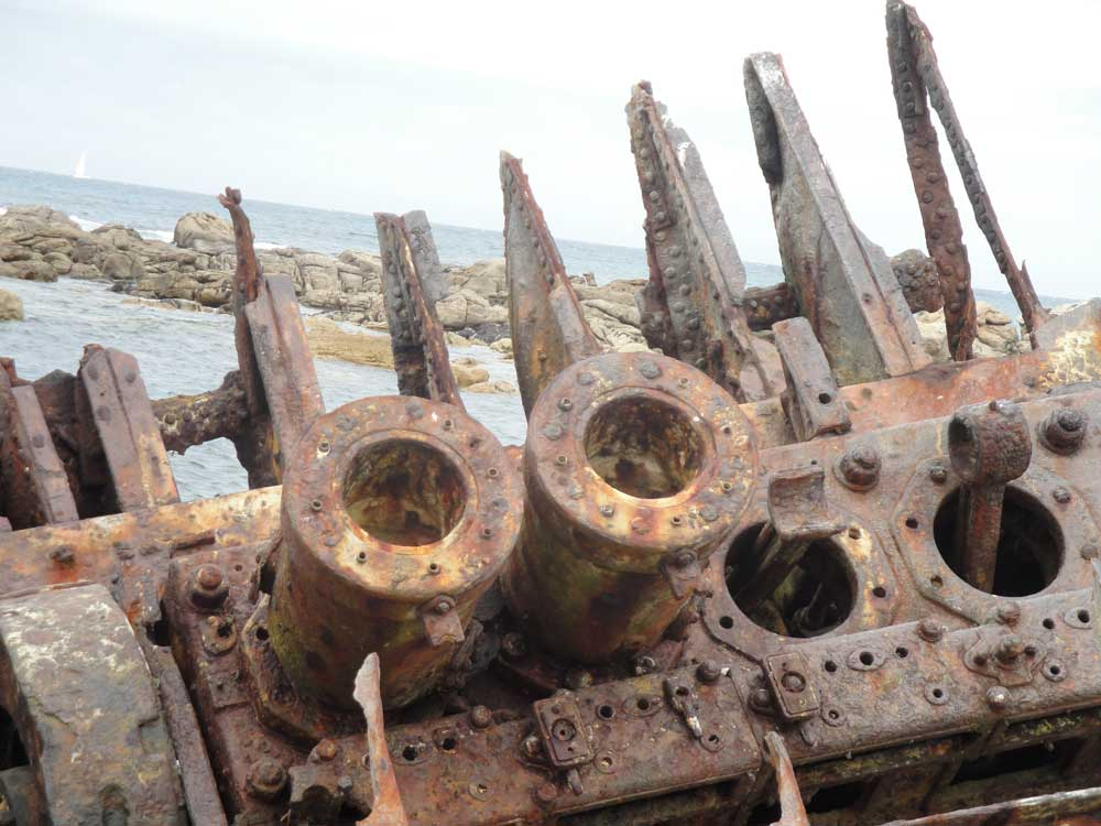 The intriguing remains of the Thomas T Tucker, wrecked in 1942.