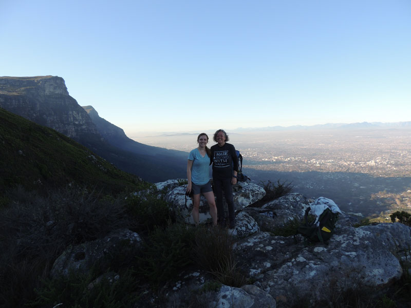 Mission Accomplished! The view from Table Mountain.